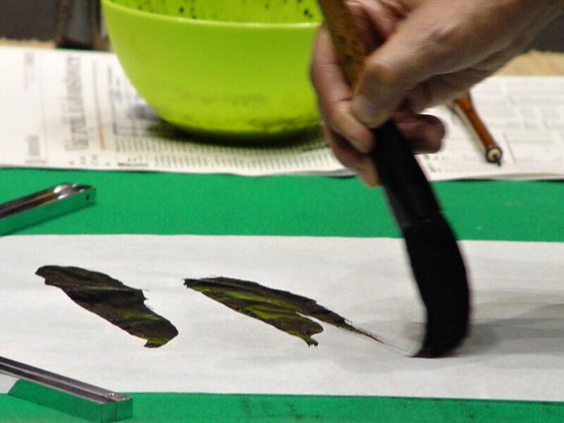 Masaharu Ogawa - psaní kaligrafie živě 3